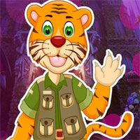 Free online flash games - G4K Cartoon Tiger Escape From Real Cave game - WowEscape
