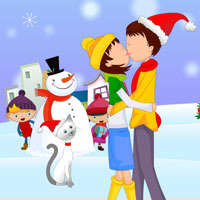 Free online html5 games - Kiss Me at Christmas game