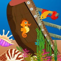Free online html5 escape games - Intractable Shark Escape HTML5