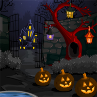 Free online flash games - MirchiGames Find Spooky Treasure Witch Relief game - WowEscape