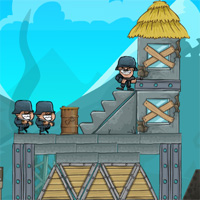 Free online flash games - Artillery Rush Bibagames game - WowEscape