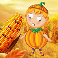 Free online flash games - Help the Pumpkin Girl game - WowEscape