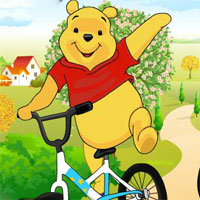 Free online flash games - Pooh Friendly Race game - WowEscape