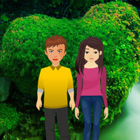 Free online flash games - Valentine Heart Forest Escape