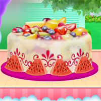Free online flash games - Fruity Ice Cream Cake Cooking game - WowEscape