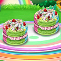 Free online flash games - Rainbow Macaroons Cooking game - WowEscape