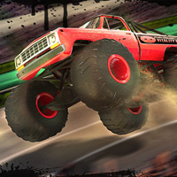 Free online flash games - Monster Truck Nitro Stadium game - WowEscape