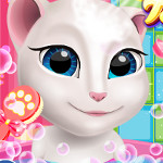 Free online flash games - Talking Angela at Spa Session game - WowEscape