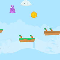 Free online flash games - Little Bunny  Run and Jump game - WowEscape