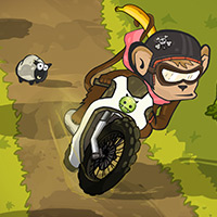 Free online flash games - Monkey Motocross Island game - WowEscape