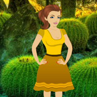 Free online flash games - Rescue Girl from Desert Cactus