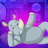 Free online flash games - G4K Drowsy Rhino Escape