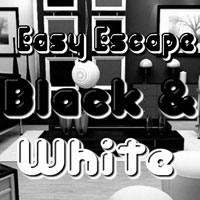 Free online flash games - Easy Escape-Black and White Hiddenogames game - WowEscape