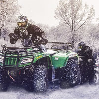 Free online flash games - 4x4 Winter ATV game - WowEscape