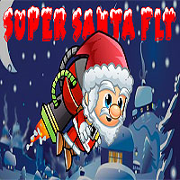 Free online flash games - Super Santa Fly game - WowEscape
