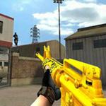 Free online flash games - CF Golden Gun Violent Block 2 game - WowEscape