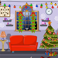 Free online flash games - Decorated Christmas House Escape game - WowEscape