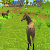 Free online flash games - Horse Family Animal Simulator 3d game - WowEscape