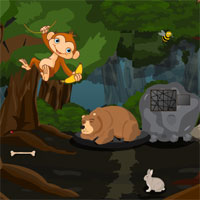 Free online flash games - Rescue The Trapped Man In A Mystery Forest game - WowEscape