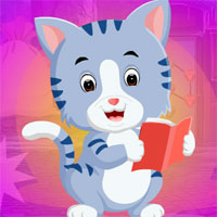 Free online flash games - Games4King Reading Kitty Escape game - WowEscape