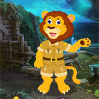 Free online flash games - G4K Funny Lion Rescue game - WowEscape