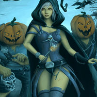 Free online flash games - Halloween Hot Girls game - WowEscape