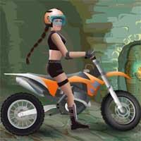 Free online flash games - Moto Tomb Racer Carbikegamer game - WowEscape